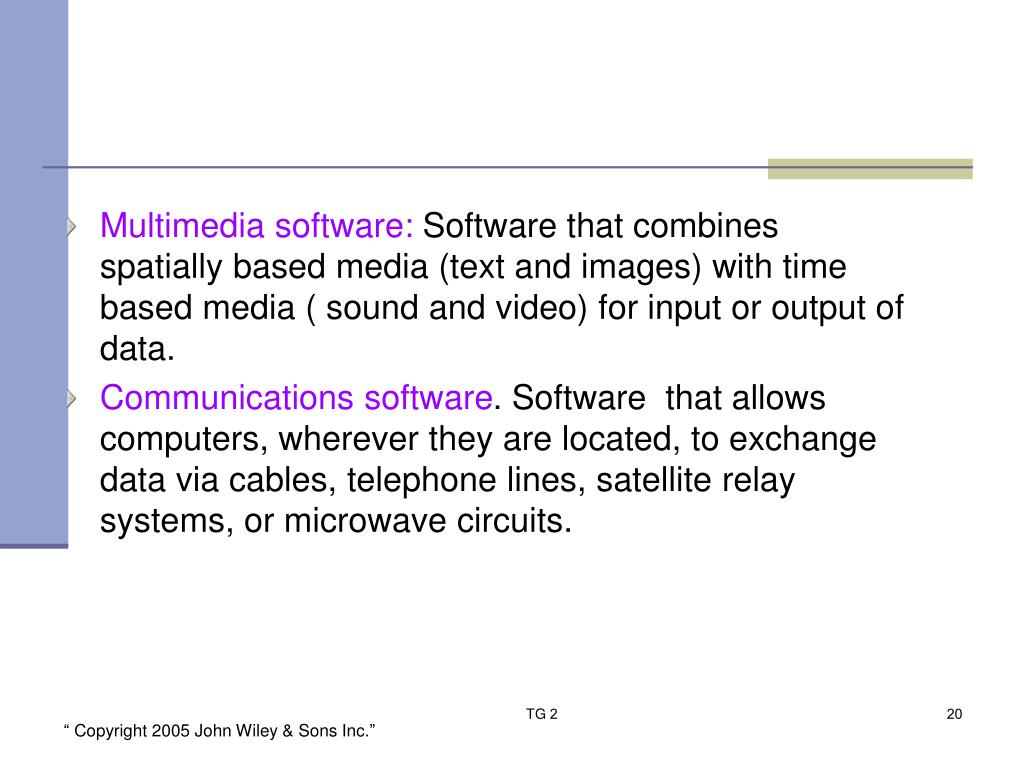 Multimedia software: