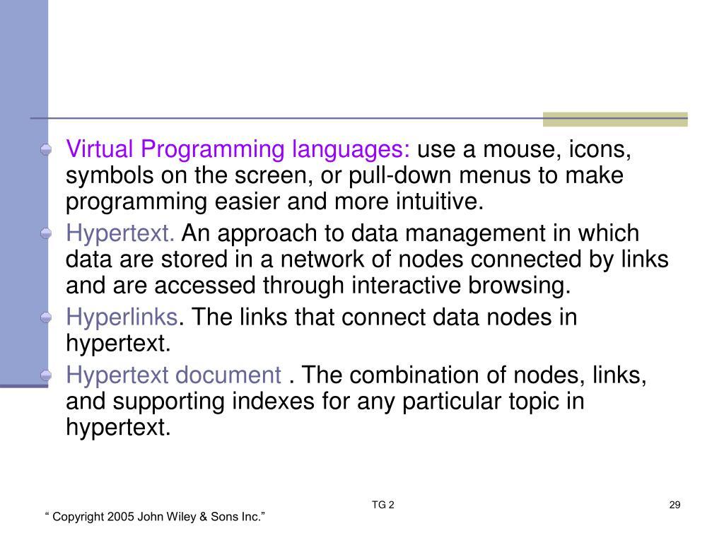 Virtual Programming languages: