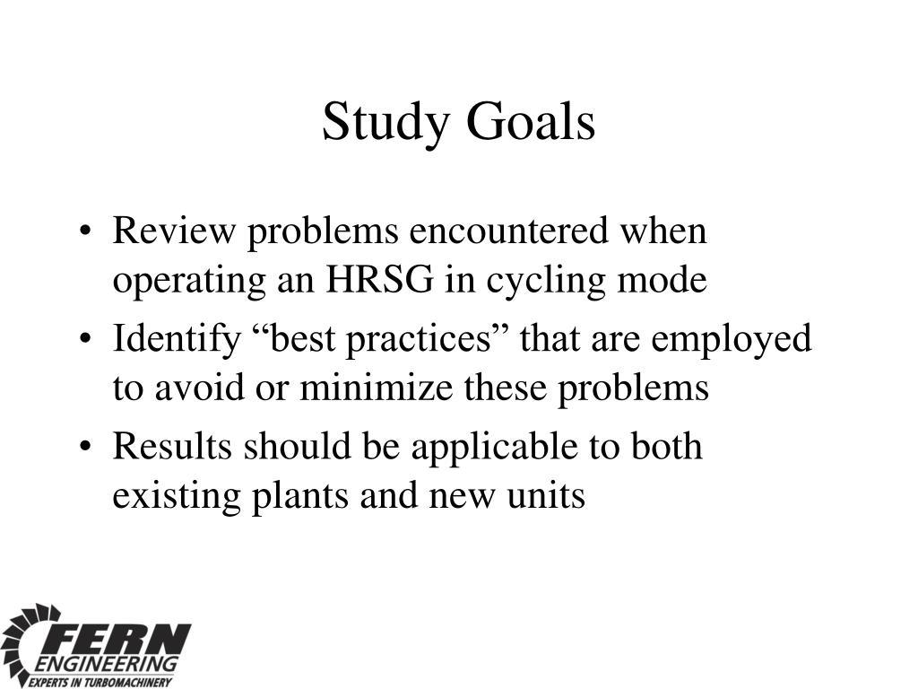 Study Goals