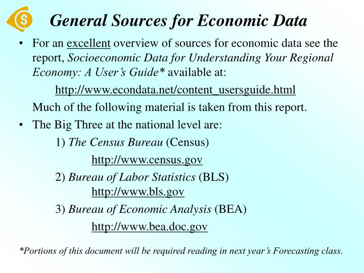 General sources for economic data
