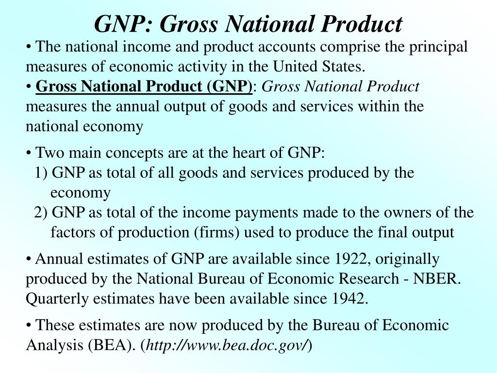 The national income and product accounts comprise the principal measures of economic activity in the United States.