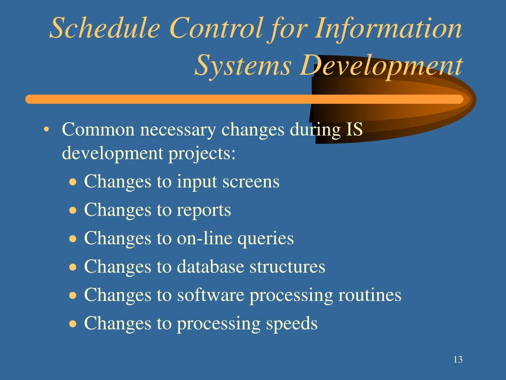 Schedule Control for Information Systems Development