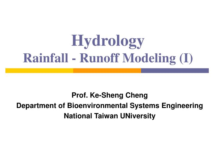 Hydrology rainfall runoff modeling i l.jpg