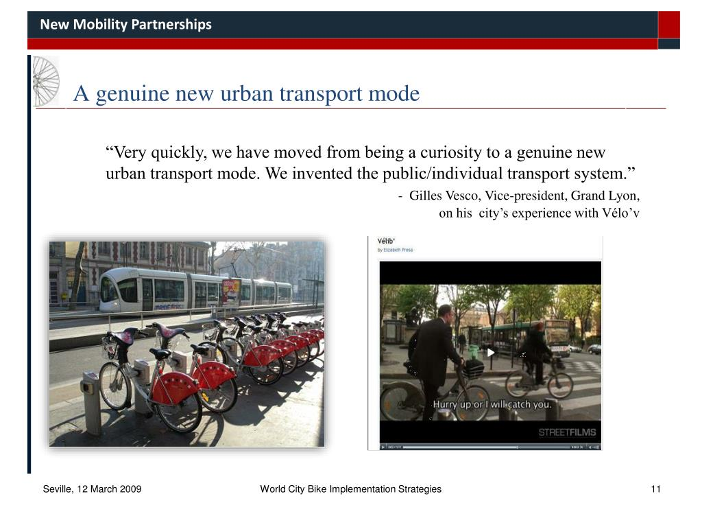 A genuine new urban transport mode