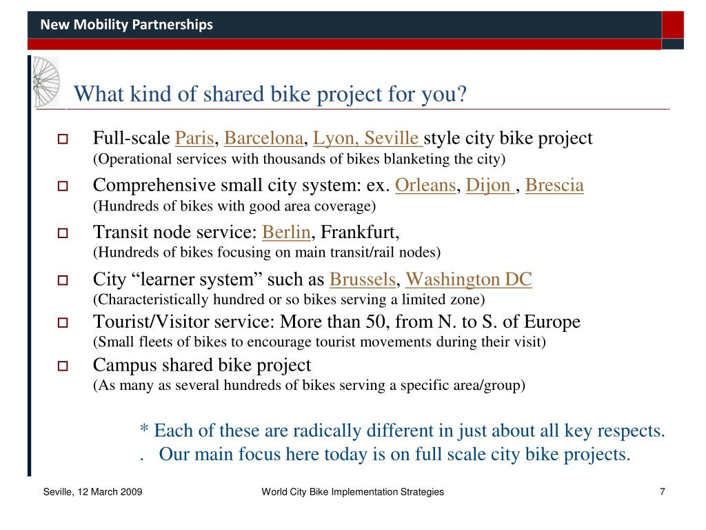 What kind of shared bike project for you?