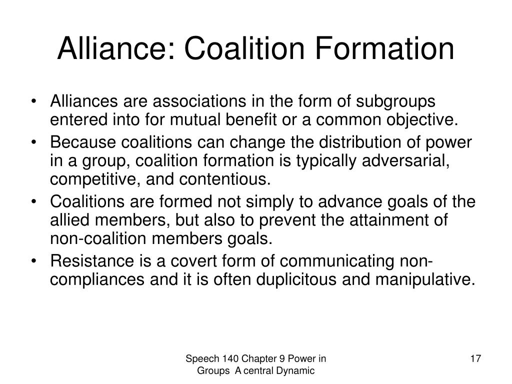 Alliance: Coalition Formation
