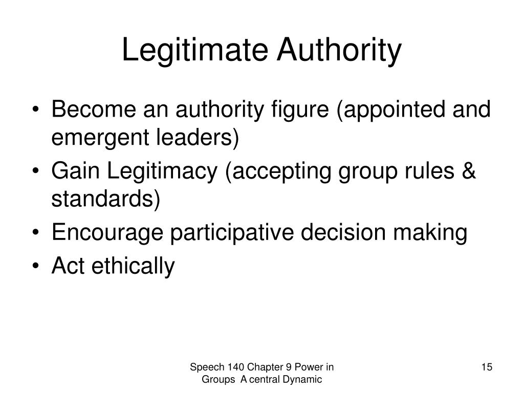 Legitimate Authority