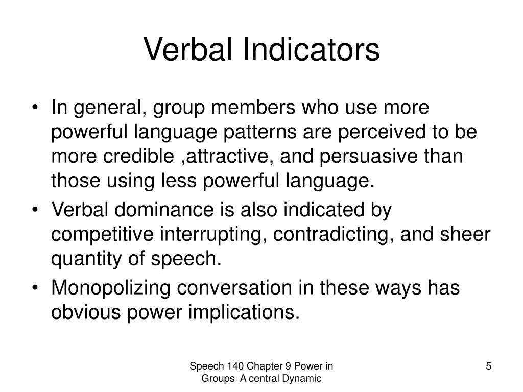 Verbal Indicators