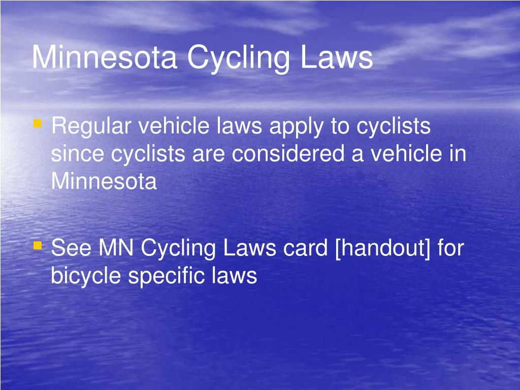 Minnesota Cycling Laws