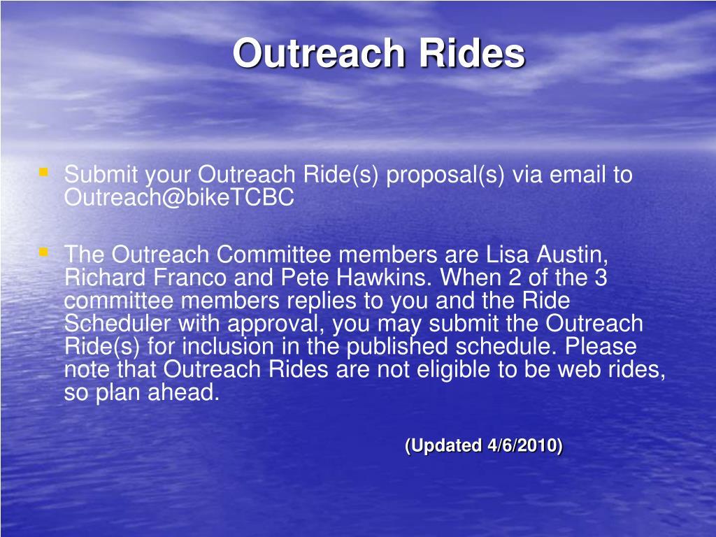 Outreach Rides