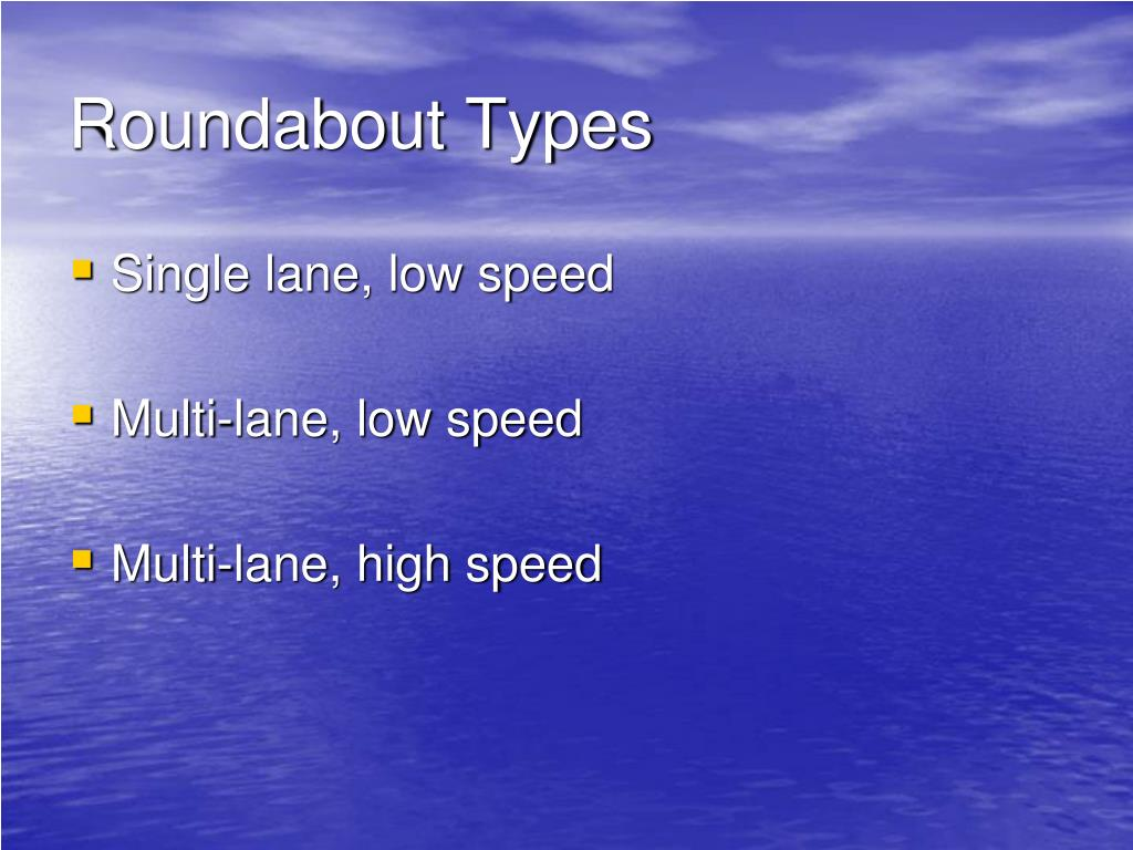 Roundabout Types
