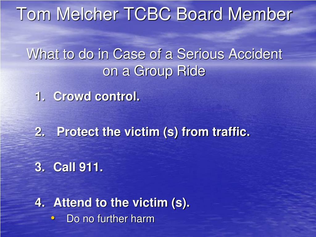 Tom Melcher TCBC Board Member