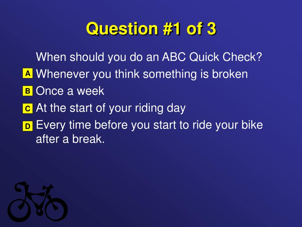 Question #1 of 3