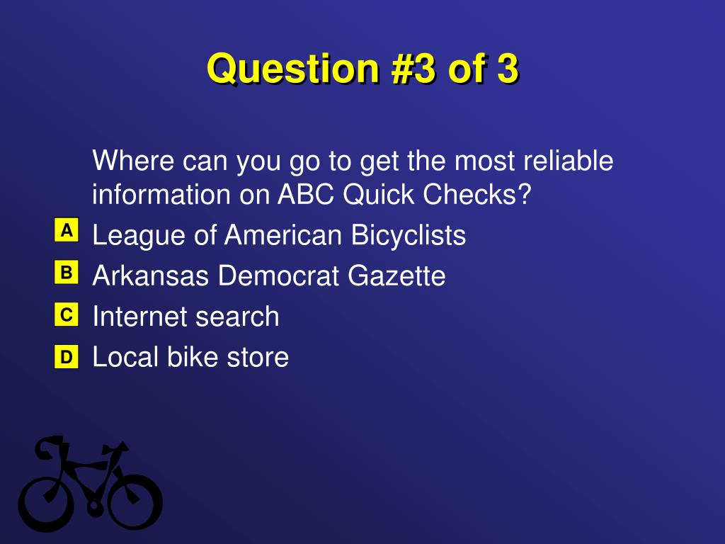 Question #3 of 3