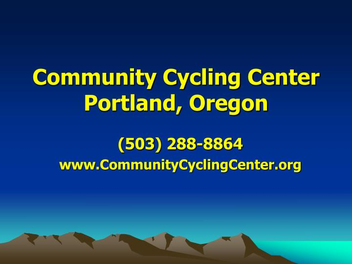 Community cycling center portland oregon