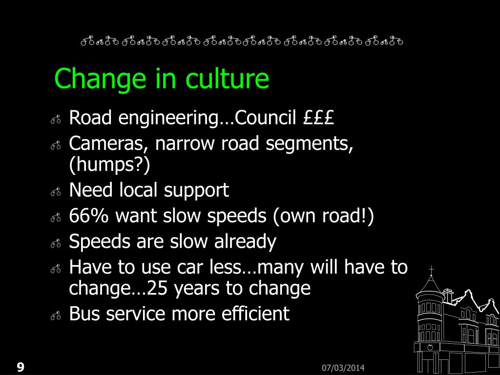 Change in culture