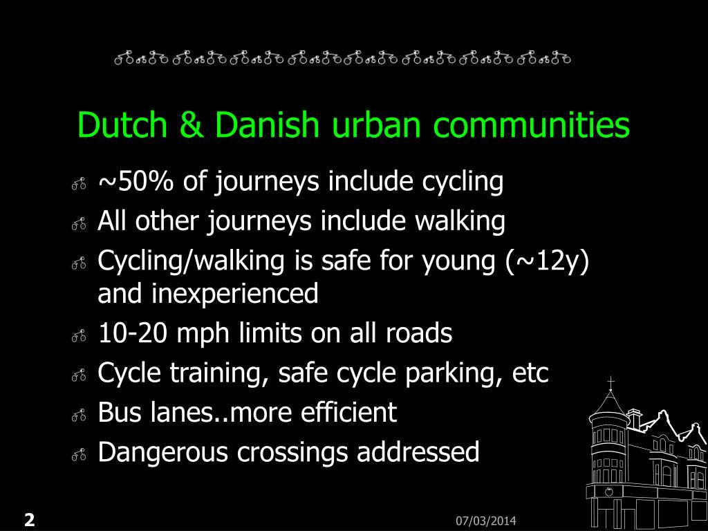 Dutch & Danish urban communities