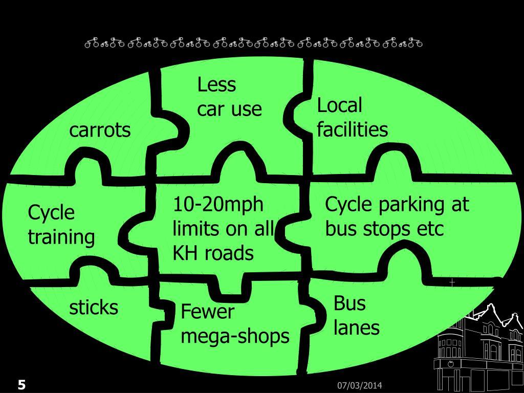 Less car use