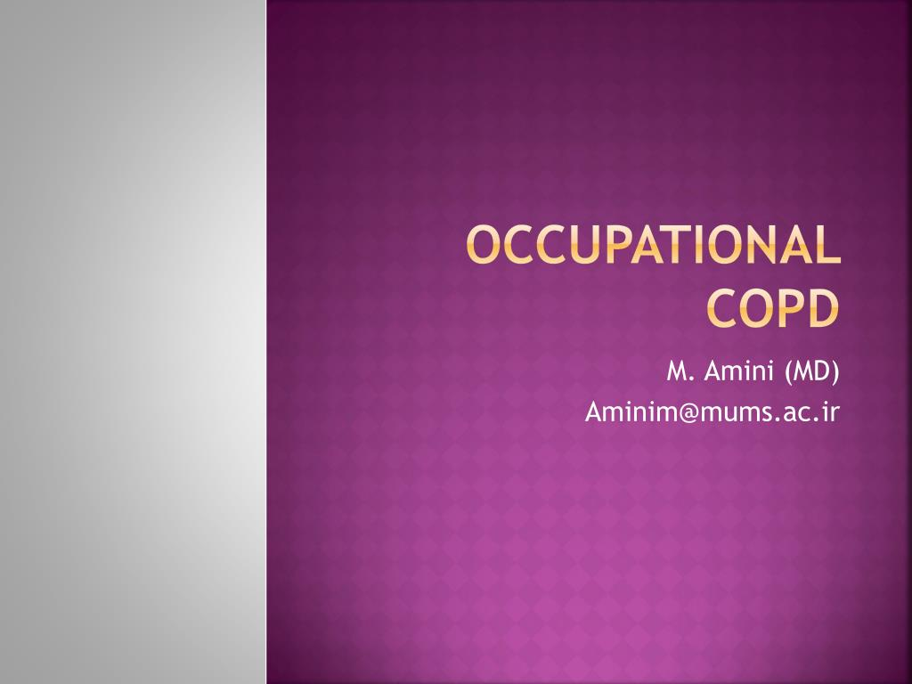 Occupational COPD
