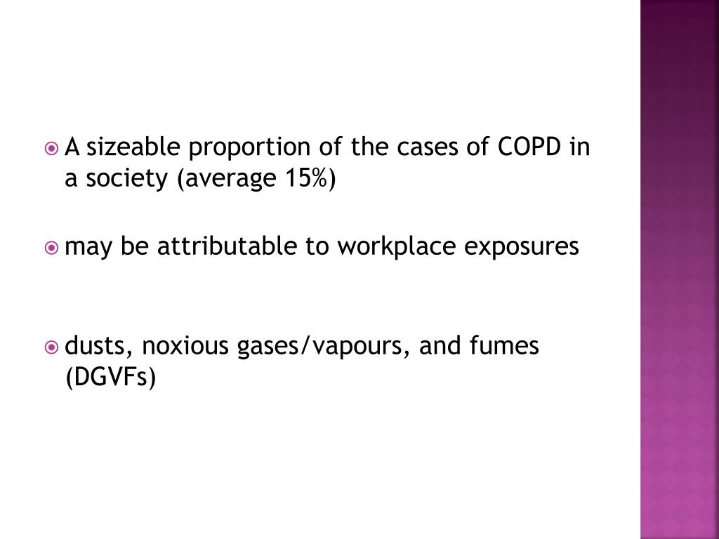 A sizeable proportion of the cases of COPD in a society (average 15%)