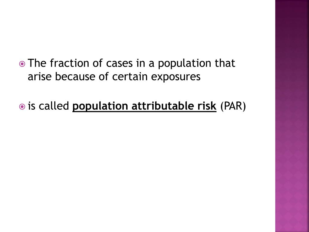 The fraction of cases in a population that arise because of certain exposures