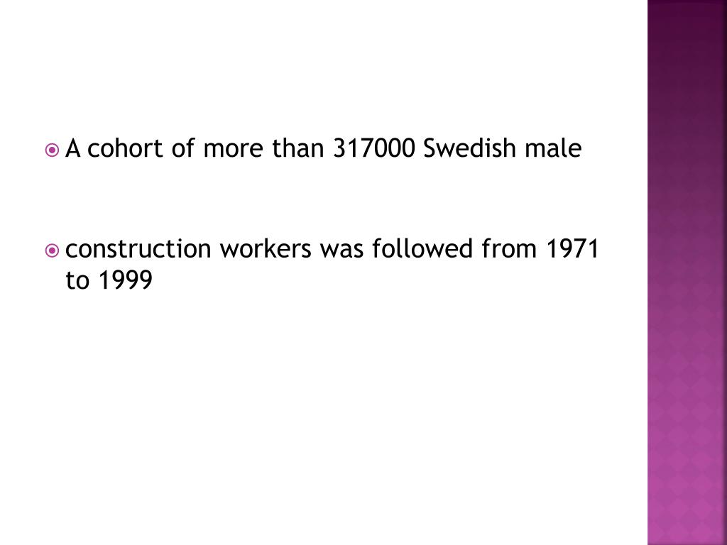 A cohort of more than 317000 Swedish male