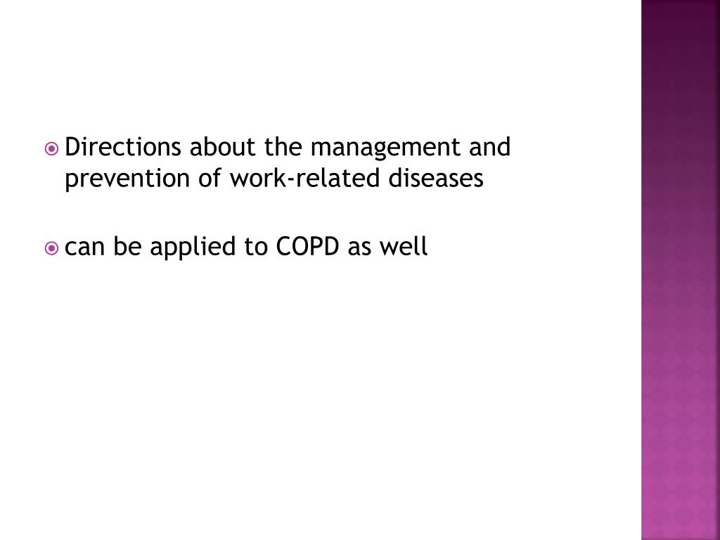 Directions about the management and prevention of work-related diseases