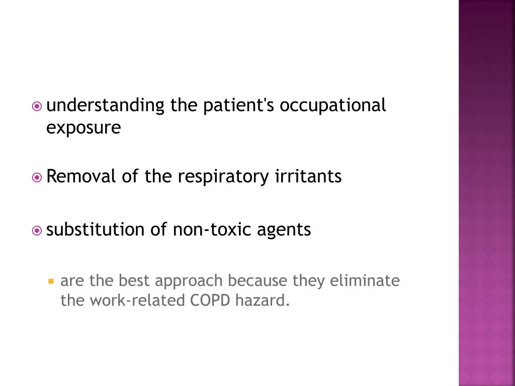 understanding the patient's occupational exposure