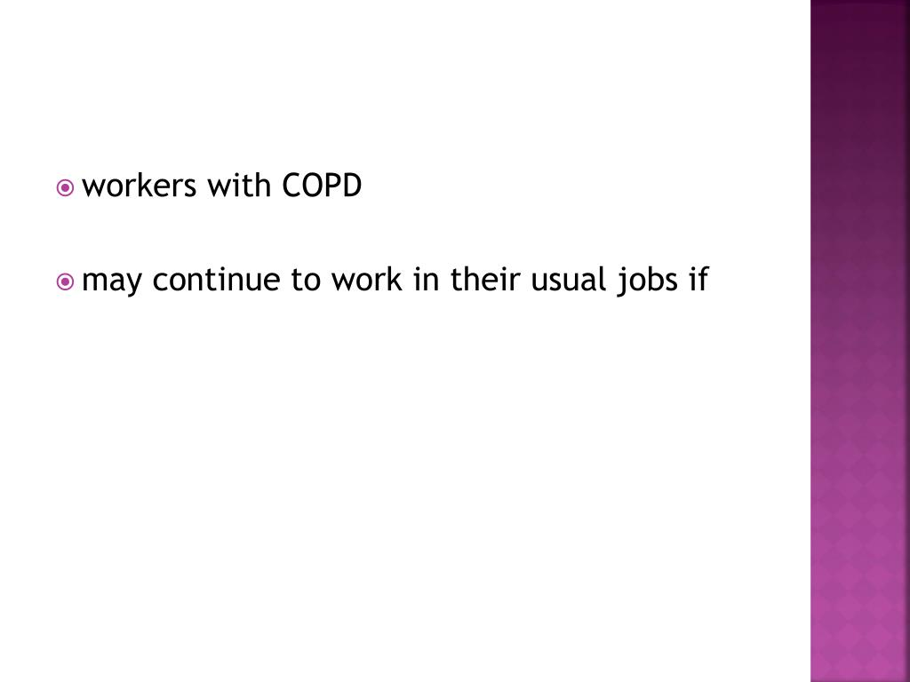 workers with COPD