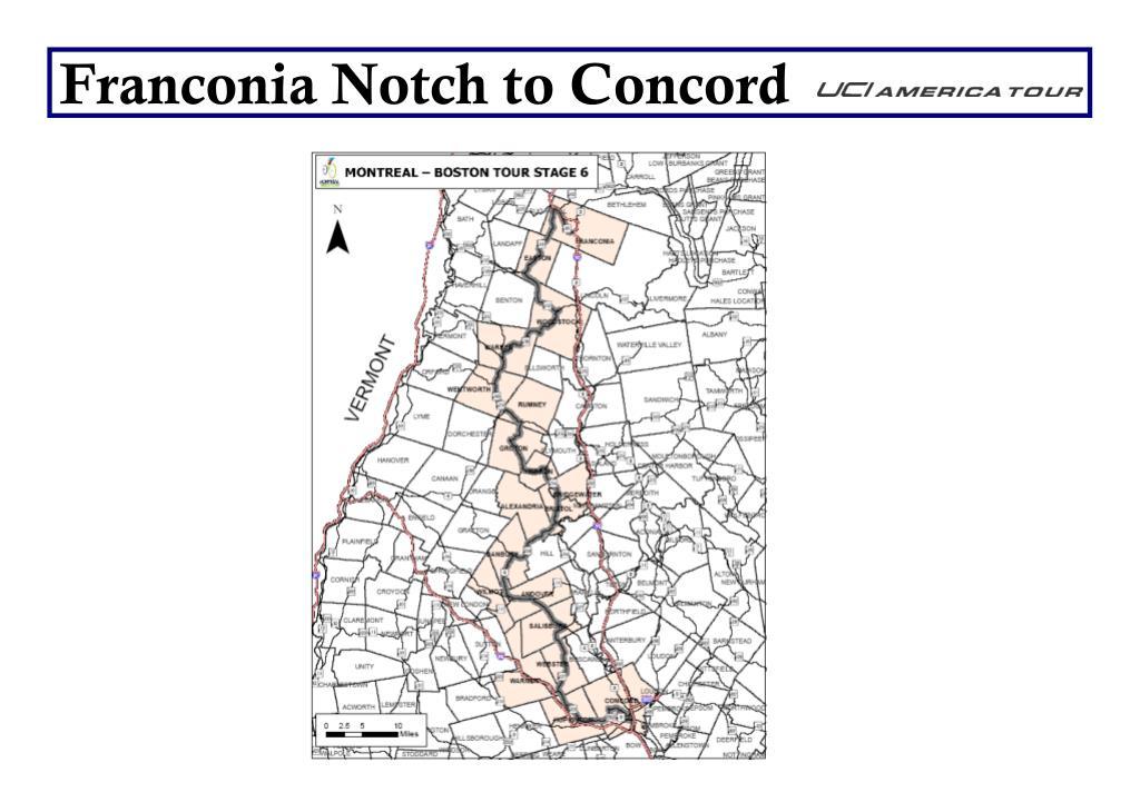 Franconia Notch to Concord