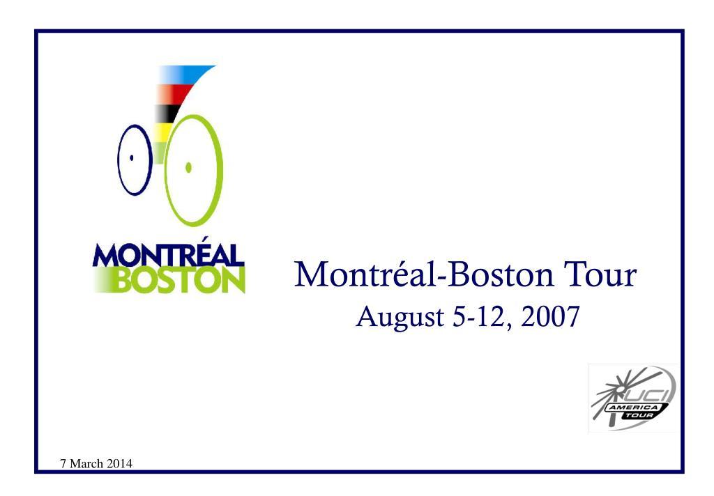 Montréal-Boston Tour