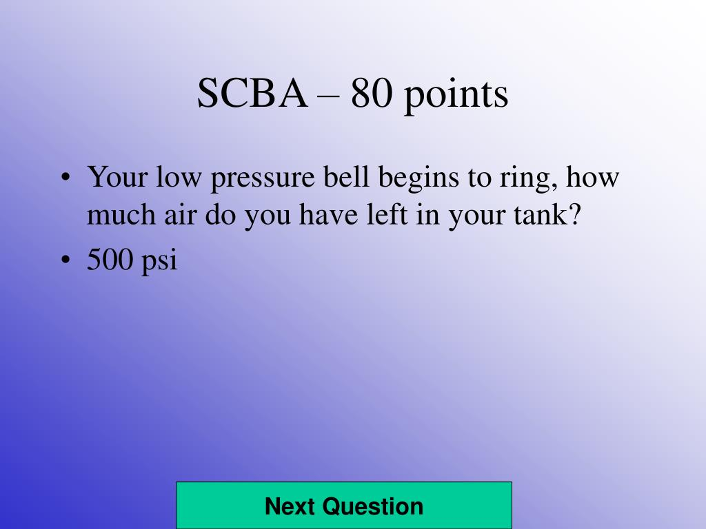SCBA – 80 points