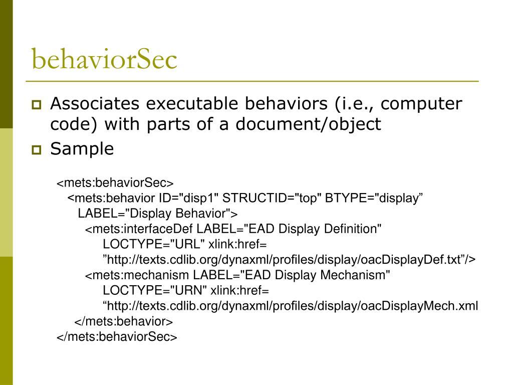 behaviorSec