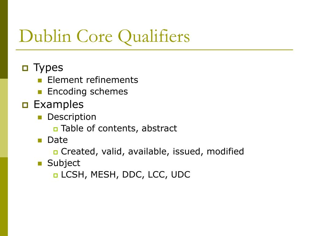 Dublin Core Qualifiers