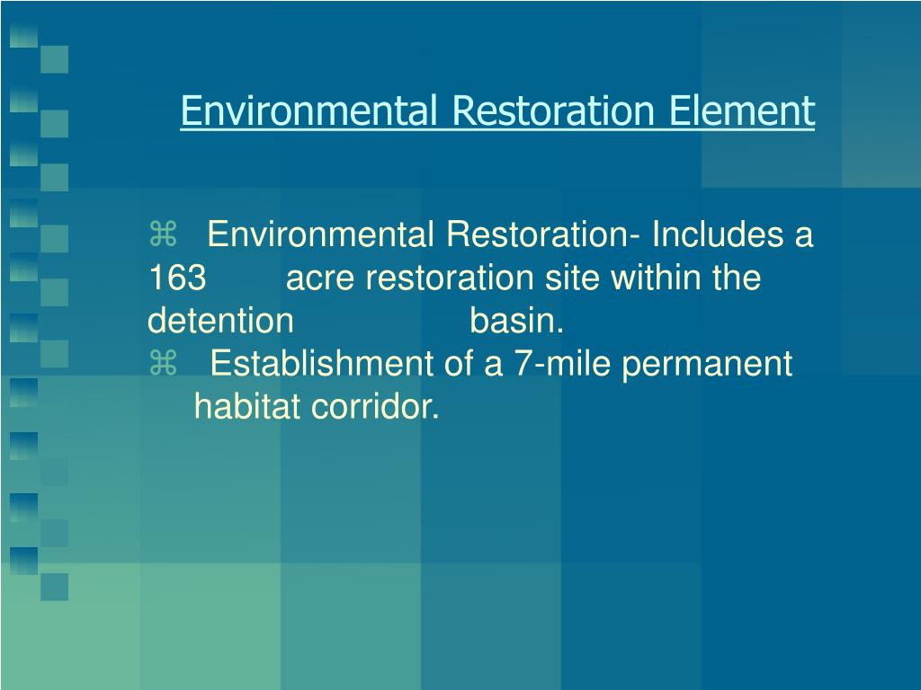 Environmental Restoration Element