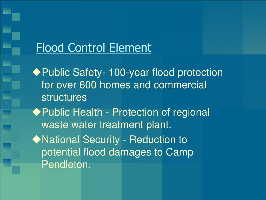 Flood Control Element