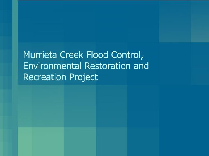 Murrieta creek flood control environmental restoration and recreation project