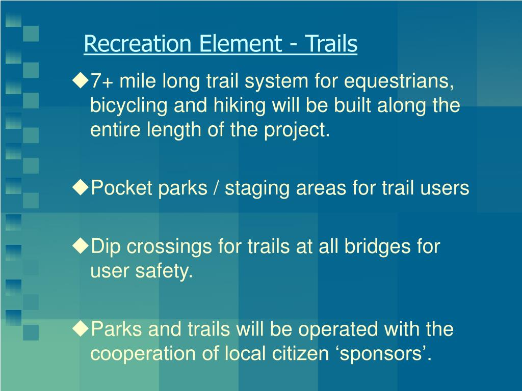 Recreation Element - Trails