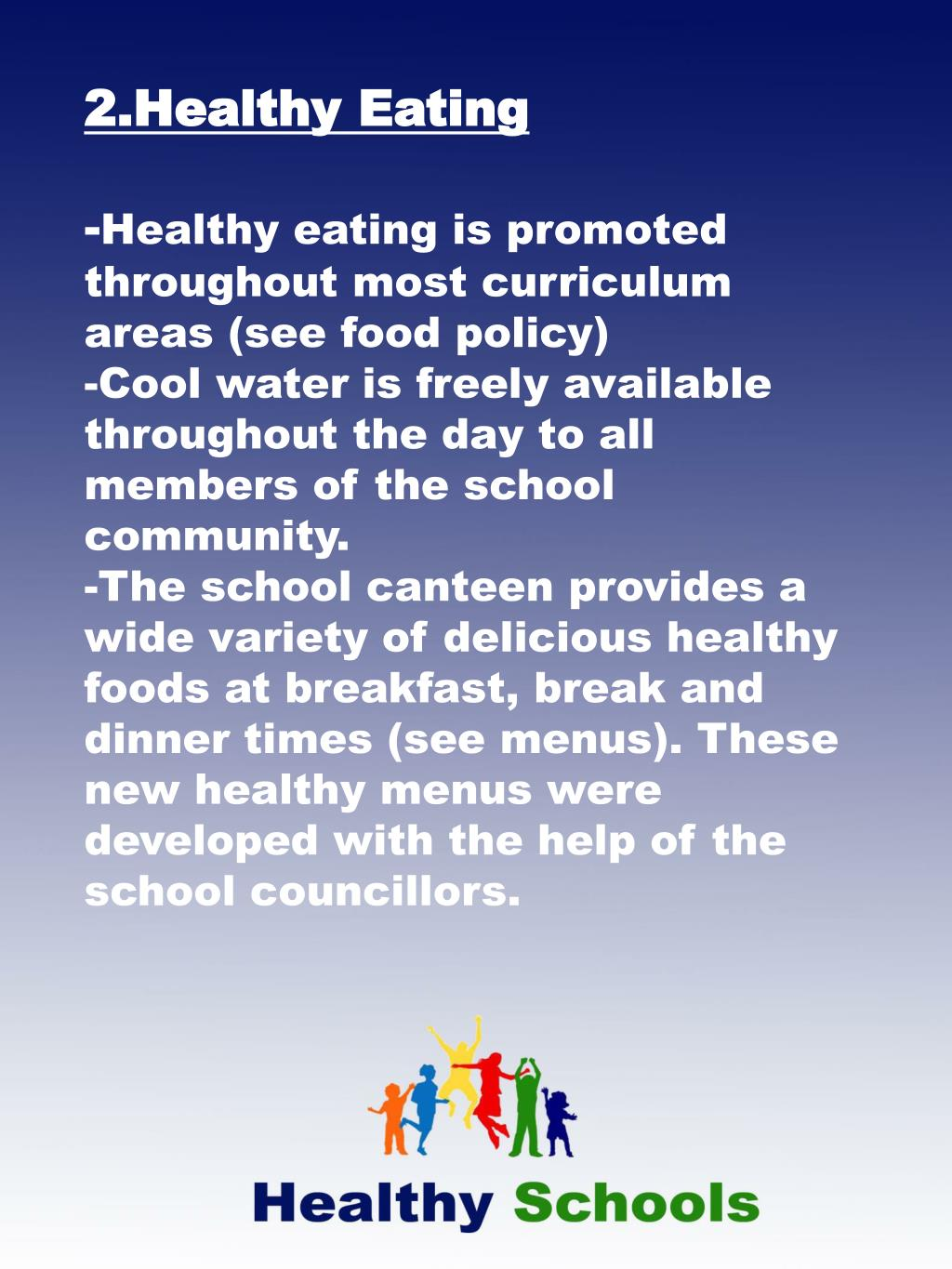 2.Healthy Eating