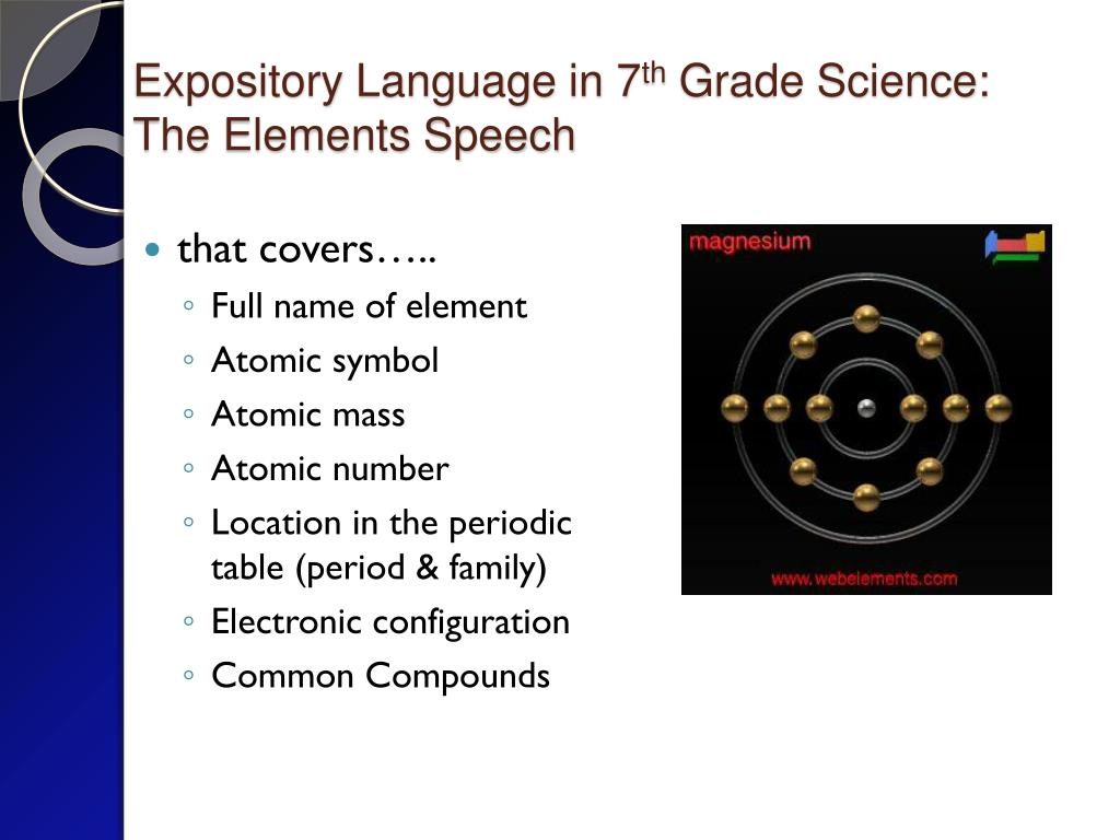 Expository Language in 7