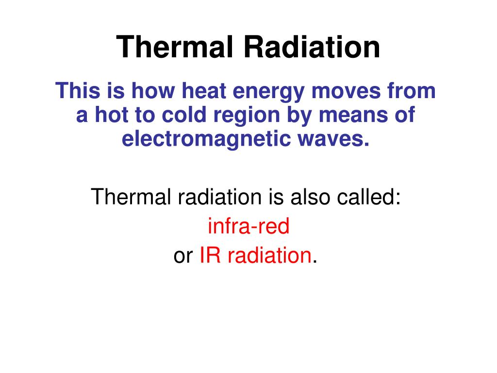 Thermal Radiation Heat Transfer Pictures
