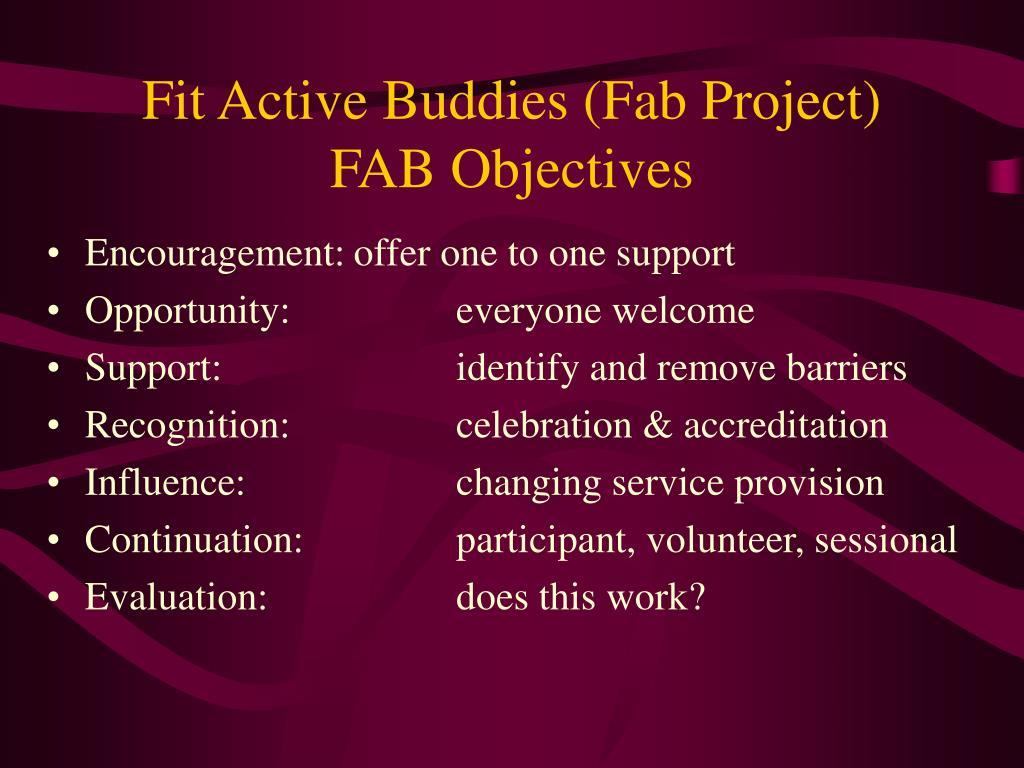 Fit Active Buddies (Fab Project)