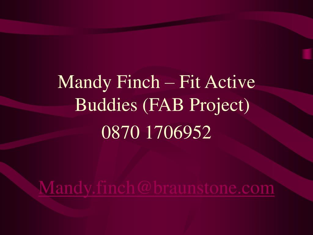 Mandy Finch – Fit Active Buddies (FAB Project)