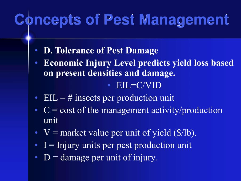 Concepts of Pest Management