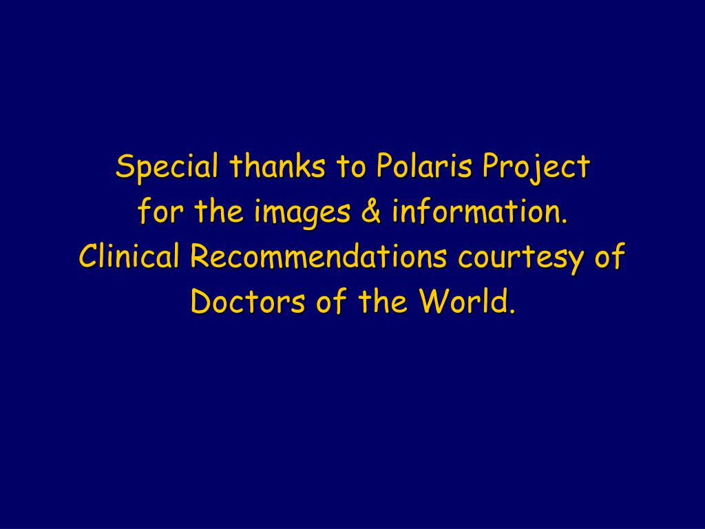 Special thanks to Polaris Project