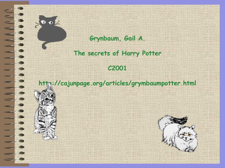 Grynbaum, Gail A.