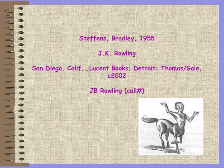 Steffens, Bradley, 1955