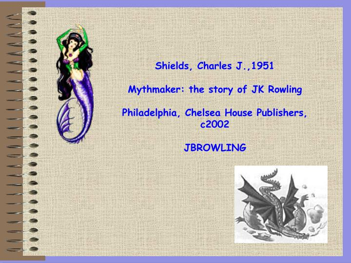 Shields, Charles J.,1951