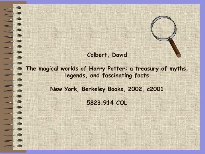 Colbert, David
