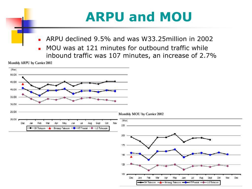 ARPU and MOU